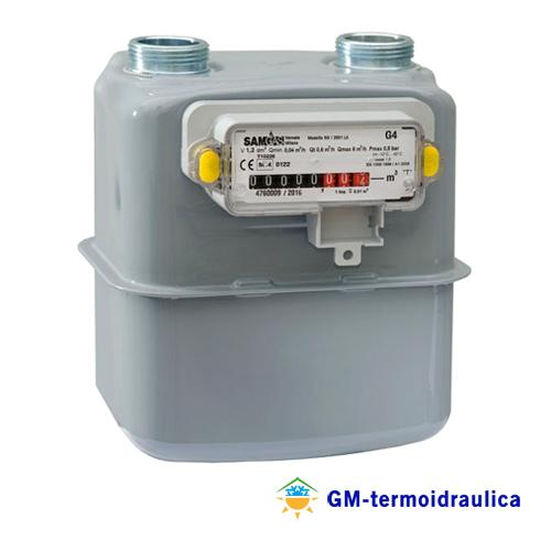Contatore misuratore gas gpl metano samgas rs 2001 con for Taroccare contatore gas