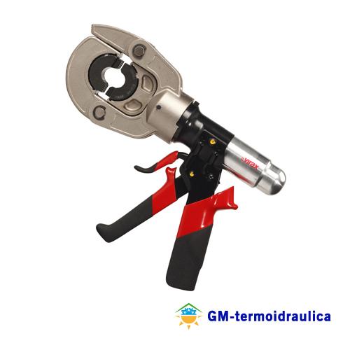 Pressatrice manuale idraulica virax viper i10 252900 for Impianto idraulico pex vs rame